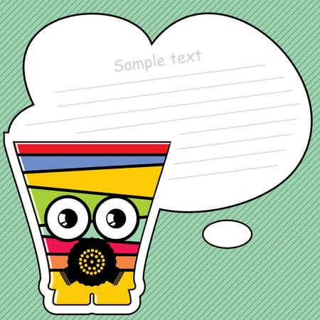 Cartoon monster with message cloud Stock Vector - 13467012