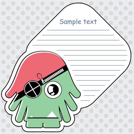 Cartoon monster with message cloud Stock Vector - 13467074