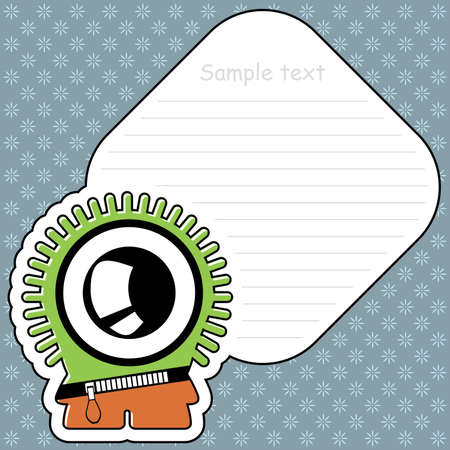 Cartoon monster with message cloud Stock Vector - 13467084