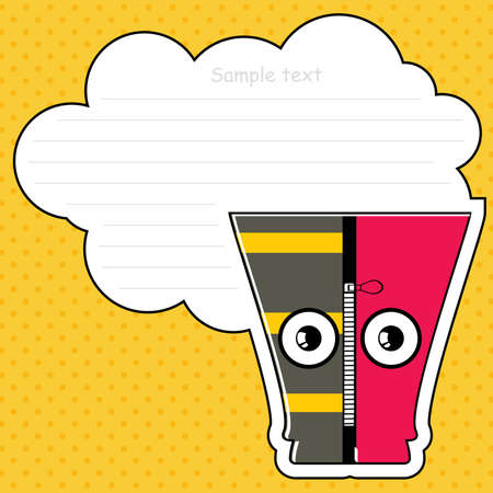 Cartoon monster with message cloud Stock Vector - 13467018