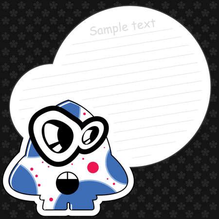 Cartoon monster with message cloud Stock Vector - 13595848