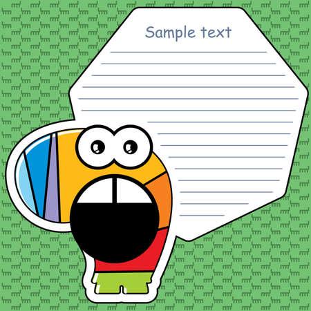 Cartoon monster with message cloud  Stock Vector - 13595857