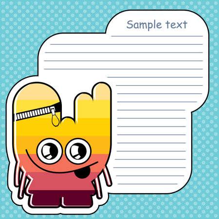 Cartoon monster with message cloud Stock Vector - 13647450