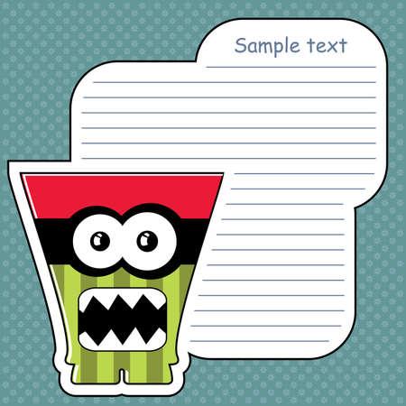 Cartoon monster with message cloud Stock Vector - 13647437