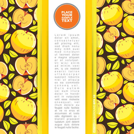ascorbic: Tarjeta con manzana