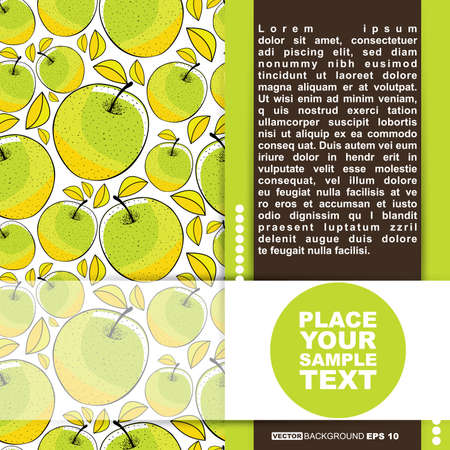 Card with apple Vector