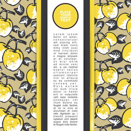 quince: Card with quince