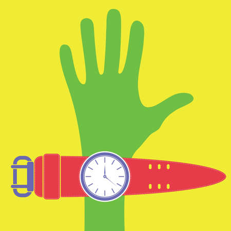 Hand and watches Stock Vector - 13693733