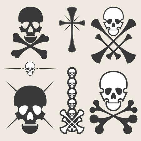 Set of skulls Stock Vector - 13693738