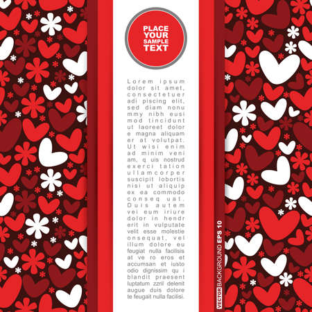 Valentine`s day card Stock Vector - 13732587