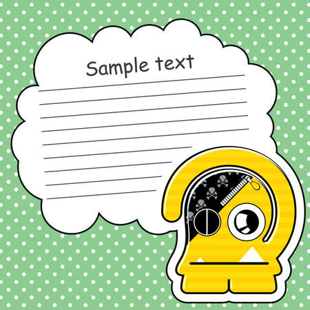 Cartoon monster with message cloud Stock Vector - 13762082