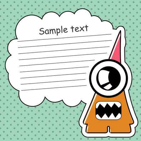 Cartoon monster with message cloud Stock Vector - 13762022