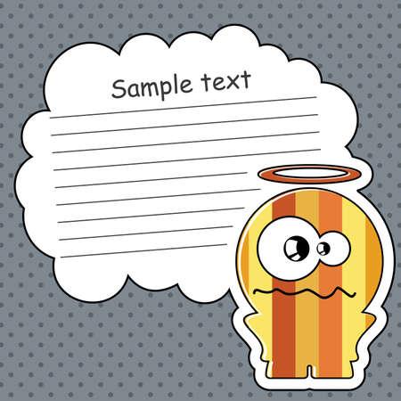 Cartoon monster with message cloud Stock Vector - 13762046