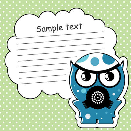 Cartoon monster with message cloud Stock Vector - 13762056