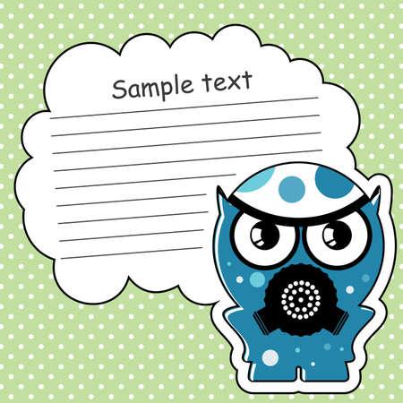Cartoon monster with message cloud Stock Vector - 13762056