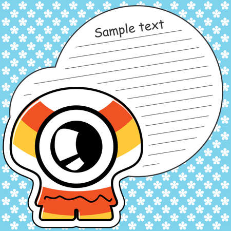 Cartoon monster with message cloud Stock Vector - 13762101