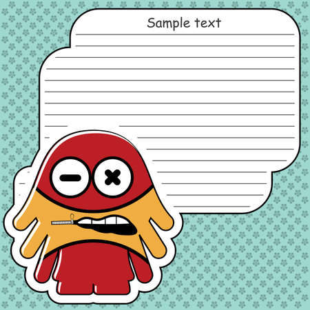 Cartoon monster with message cloud Stock Vector - 13762185