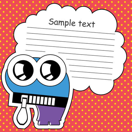 Cartoon monster with message cloud Stock Vector - 13762044