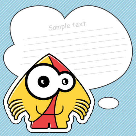 Cartoon monster with message cloud Stock Vector - 13762018