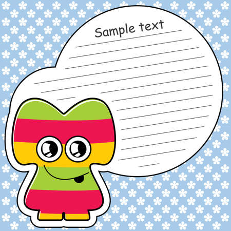 Cartoon monster with message cloud Stock Vector - 13762117