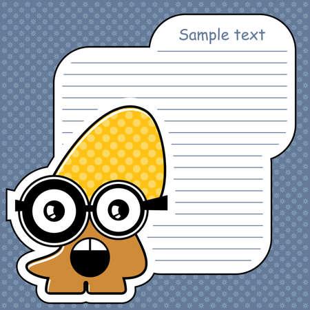 Cartoon monster with message cloud Stock Vector - 13762204