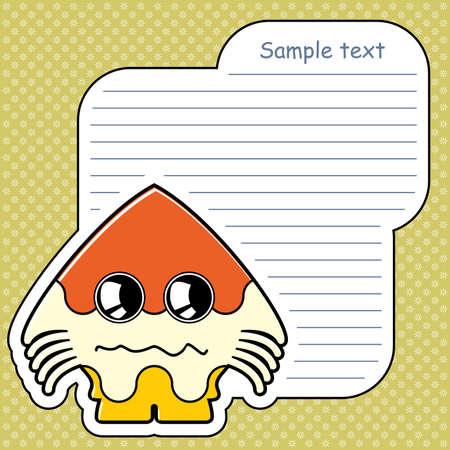 Cartoon monster with message cloud Stock Vector - 13762206