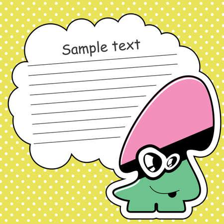Cartoon monster with message cloud Stock Vector - 13762010