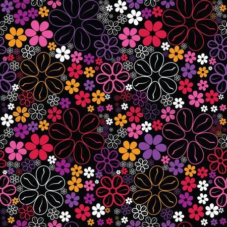 Flowers - seamless pattern Stock Vector - 13801049