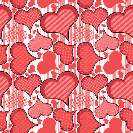 Hearts - seamless pattern Vector
