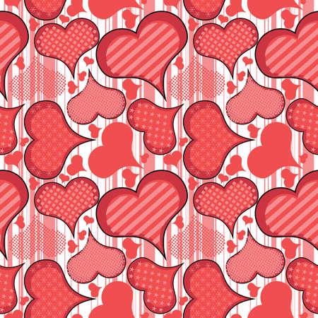 Hjärtan - sömlösa mönster