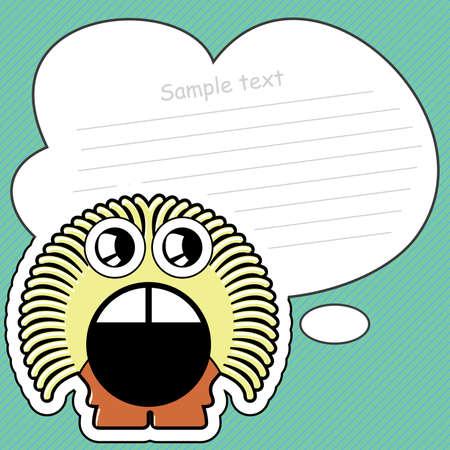 Cartoon monster with message cloud Stock Vector - 13822198