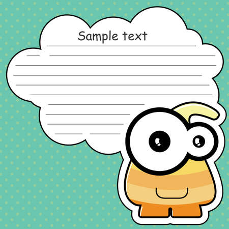 Cartoon monster with message cloud Stock Vector - 13822264