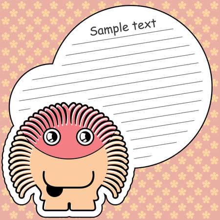 Cartoon monster with message cloud Stock Vector - 13822365