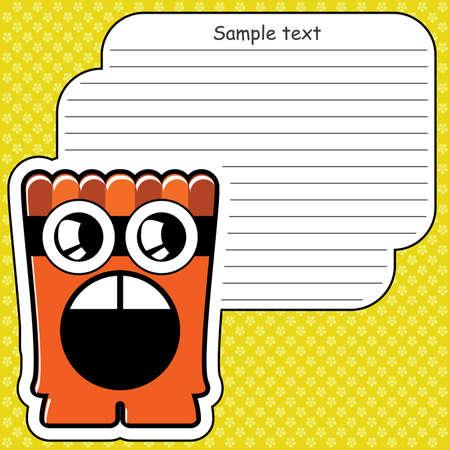 Cartoon monster with message cloud Stock Vector - 13822378