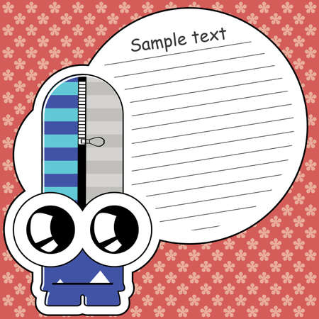 Cartoon monster with message cloud Stock Vector - 13896537
