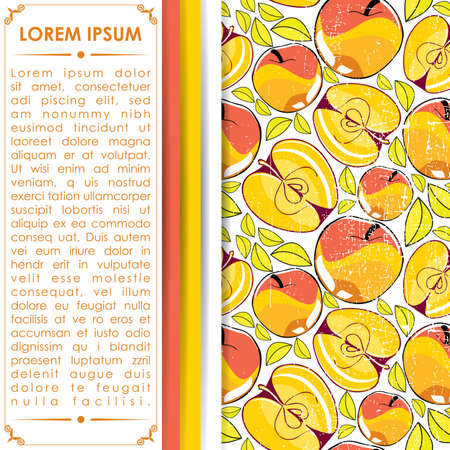 ascorbic: Card with apples