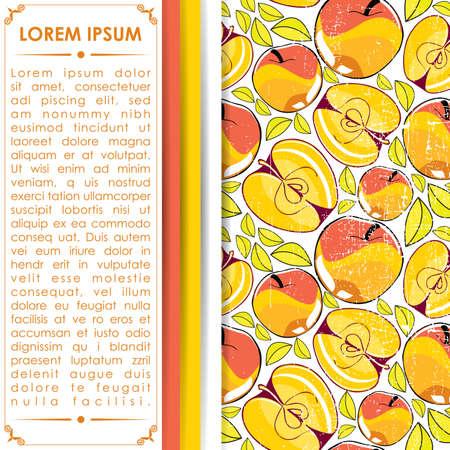ascorbic: Tarjeta con manzanas Vectores