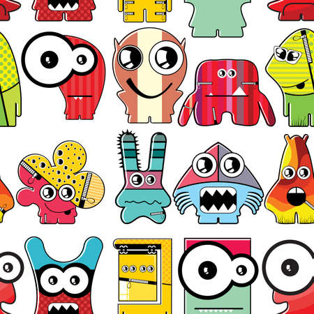 pattern monster: Monster seamless