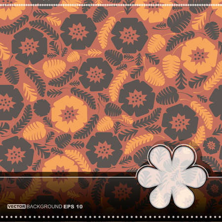 Floral card Stock Vector - 14451324