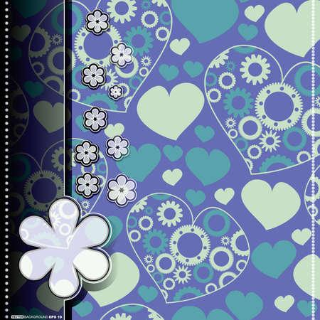 Valentine card Stock Vector - 14451343