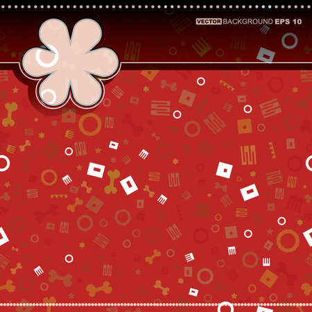 Card with decorative elements Vector