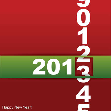New year card Stock Vector - 14544576