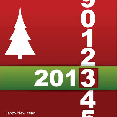 New year card Stock Vector - 14544574