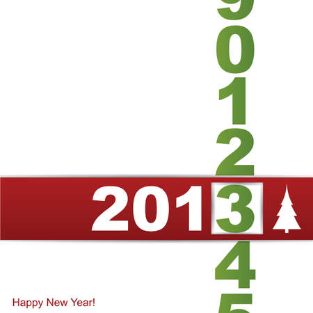 New year card Stock Vector - 14544570