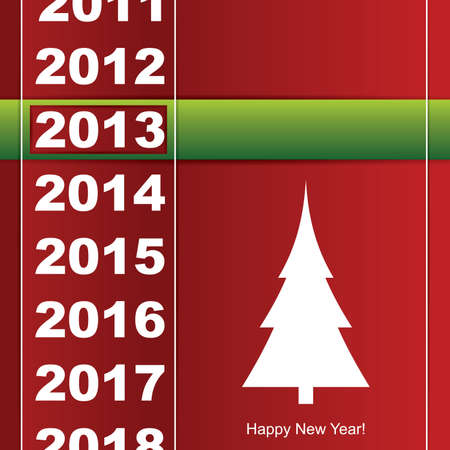 New year card Stock Vector - 14596146