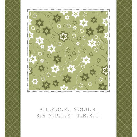 Floral card Stock Vector - 14985307