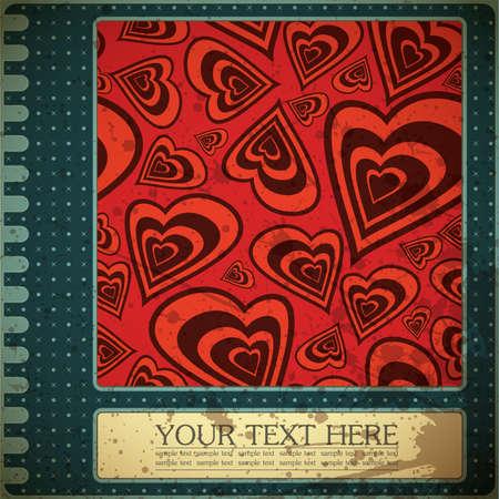 retro valentine`s day card Stock Vector - 15161489