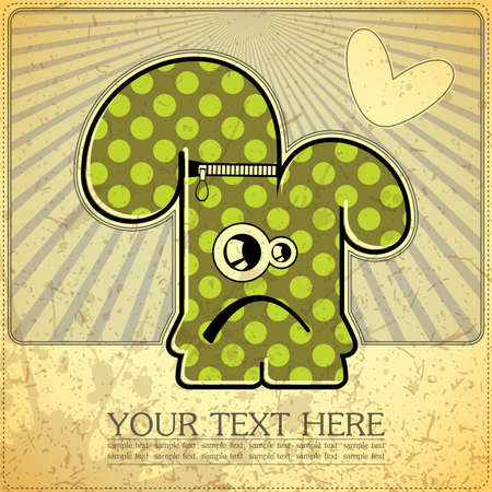 Monster on retro background Stock Vector - 15161482