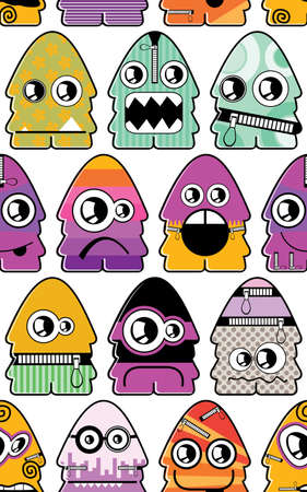 Monsters seamless Stock Vector - 15354868