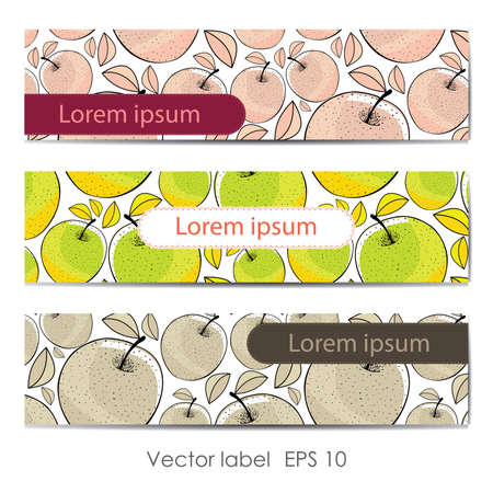Card with apples Stock Vector - 15354996